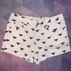 🩳 FOREVER 21 triangle jean shorts